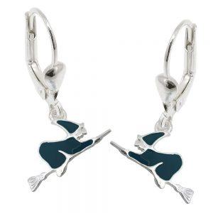 Boucles oreilles a levier avec sorciere argent 925 Krossin bijoux en argent 93753xx