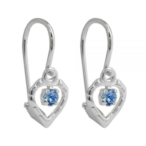 Boucles oreilles a levier bleu argent 925 Krossin bijoux en argent 90646xx