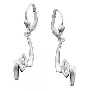 Boucles oreilles a levier en Zircon argent 925 Krossin bijoux en argent 90995xx