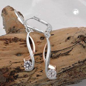 Boucles oreilles a levier en Zircon argent 925 Krossin bijoux en argent 93486x