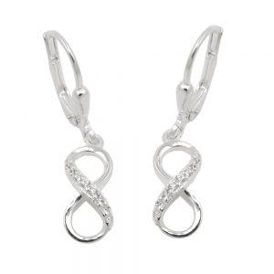 Boucles oreilles a levier infinity argent 925 Krossin bijoux en argent 93790xx