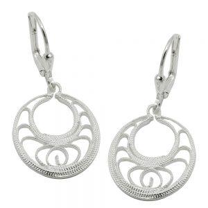 Boucles oreilles a levier rond argent 925 Krossin bijoux en argent 93663xx