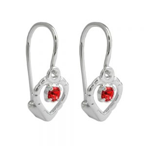 Boucles oreilles a levier rouge argent 925 Krossin bijoux en argent 90645xx