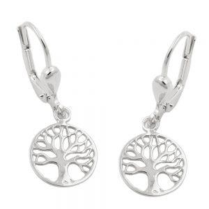 Boucles oreilles arbre de vie argent 925 Krossin bijoux en argent 93759xx