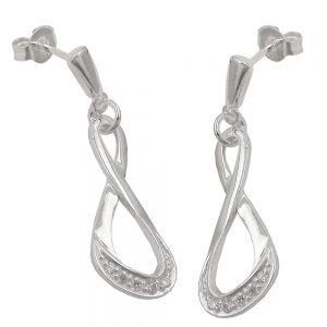 Boucles oreilles avec Zircons argent 925 Krossin bijoux en argent 93627xx