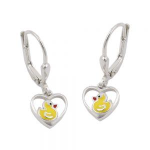 Boucles oreilles canard argent 925 Krossin bijoux en argent 93478xx
