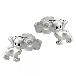 Boucles oreilles chats argent 925 Krossin bijoux en argent 93184xx
