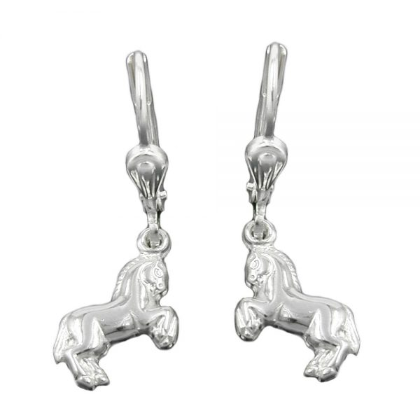 Boucles oreilles chevaux pendantes Argent 925 Krossin bijoux en argent 90349xx