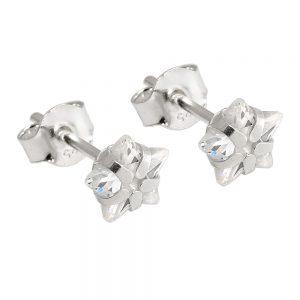Boucles oreilles clou Zircon blanc argent 92 93570xx
