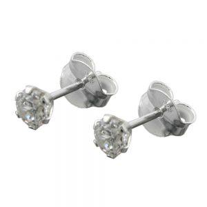 Boucles oreilles clou Zircon blanc argent 925 Krossin bijoux en argent 93410xx
