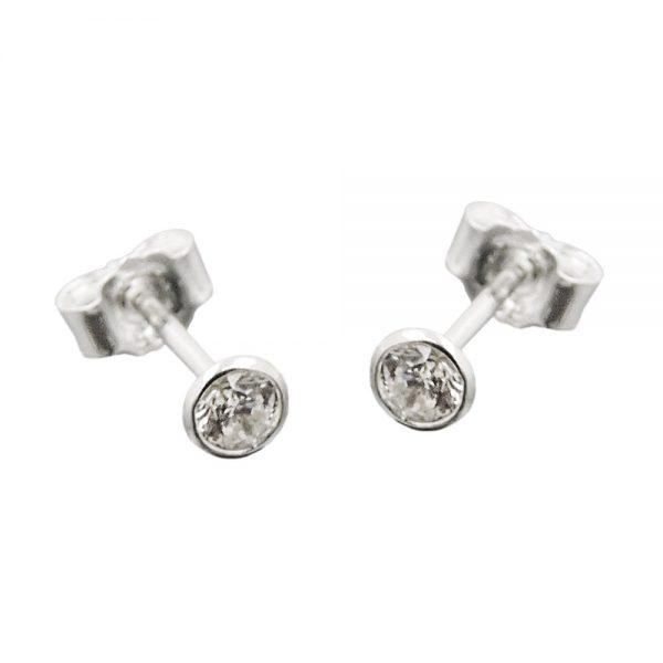 Boucles oreilles clou Zircon blanc argent 925 Krossin bijoux en argent 93495xx