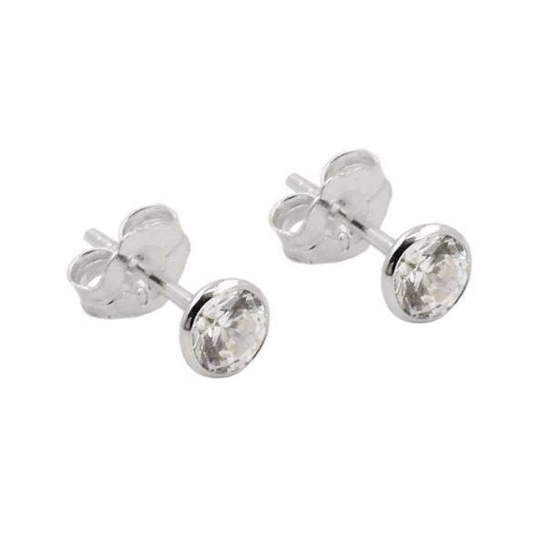 Boucles oreilles clou Zircon blanc argent 925 Krossin bijoux en argent 93500xx