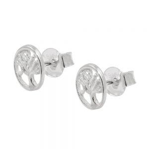 Boucles oreilles clous darbre en argent 925 Krossin bijoux en argent 93758xx