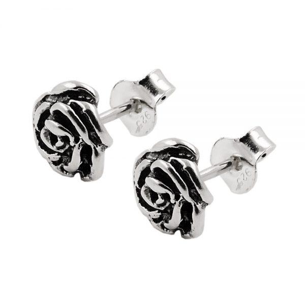 Boucles oreilles clous fleur argent 925 Krossin bijoux en argent 93522xx
