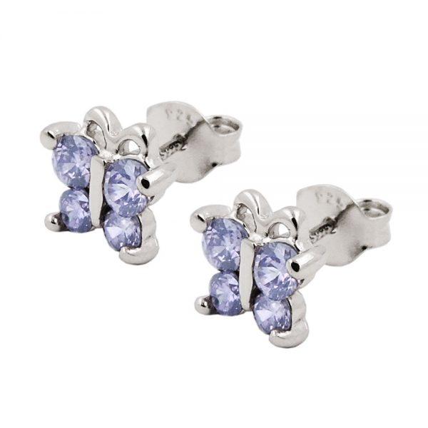 Boucles oreilles clous papillon argent 925 Krossin bijoux en argent 93539xx