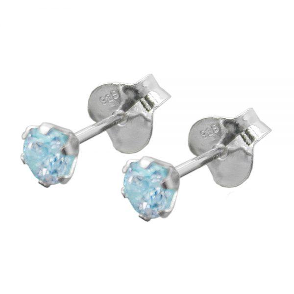 Boucles oreilles clous zircon  Argent 925 Krossin bijoux en argent 93408xx