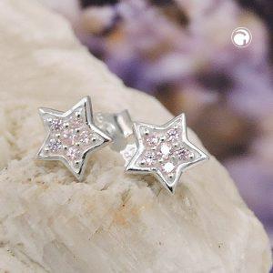 Boucles oreilles clous zircon argent 925 Krossin bijoux en argent 93706x