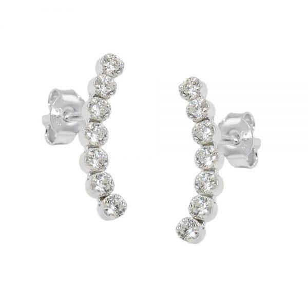 Boucles oreilles clous zircon argent 925 Krossin bijoux en argent 93760xx