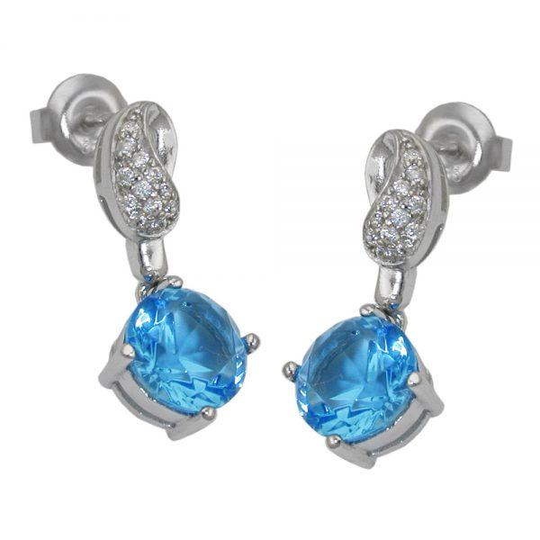 Boucles oreilles clous zircons argent 925 Krossin bijoux en argent 93450xx