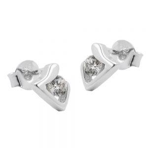 Boucles oreilles clous zircons argent 925 Krossin bijoux en argent 93535xx