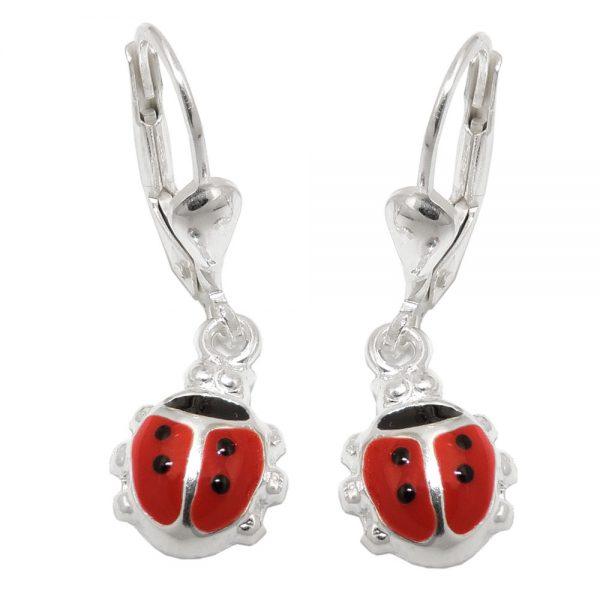 Boucles oreilles coccinelle argent 925 Krossin bijoux en argent 93552xx