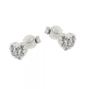 Boucles oreilles coeur Zircon argent 925 Krossin bijoux en argent 93736xx