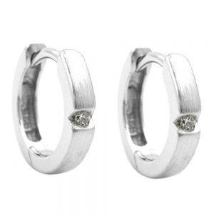 Boucles oreilles creoles 12mm Zircon argent 925 Krossin bijoux en argent 92018xx