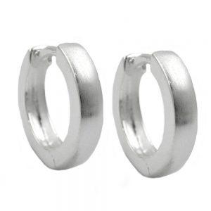 Boucles oreilles creoles 13x3mm argent 925 Krossin bijoux en argent 92236xx