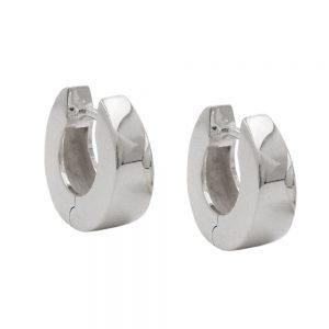 Boucles oreilles creoles 13x5mm argent 925 Krossin bijoux en argent 93618xx