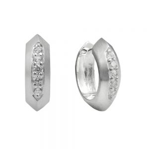Boucles oreilles creoles 15x5mm argent 925 Krossin bijoux en argent 93613xx