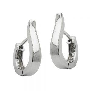 Boucles oreilles creoles 3mm ovale argent 925 Krossin bijoux en argent 92053xx