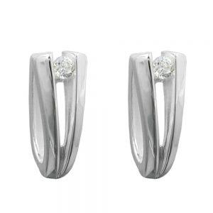 Boucles oreilles creoles Zircon argent 925 Krossin bijoux en argent 91976xx