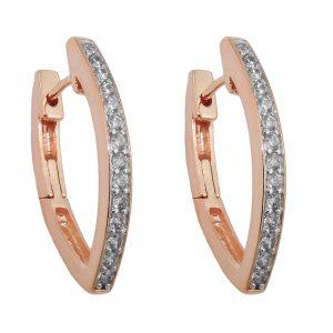 Boucles oreilles creoles Zircon argent 925 Krossin bijoux en argent 93692xx