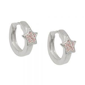 Boucles oreilles creoles Zircon argent 925 Krossin bijoux en argent 93708xx