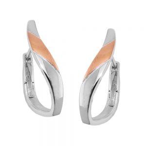 Boucles oreilles creoles a motifs argent 925 Krossin bijoux en argent 93700xx