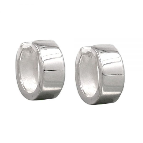 Boucles oreilles creoles argent poli 925 Krossin bijoux en argent 93371xx