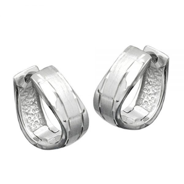 Boucles oreilles creoles argent poli 925 Krossin bijoux en argent 93372xx