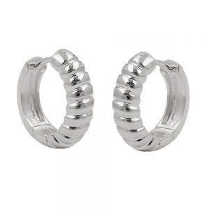 Boucles oreilles creoles articulees 15x4mm argent 925 Krossin bijoux en argent 93615xx