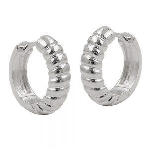 Boucles oreilles creoles articulees 16x5mm argent 92 93625xx
