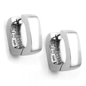 Boucles oreilles creoles carre argent 925 Krossin bijoux en argent 91192xx