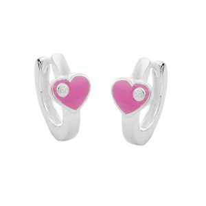 Boucles oreilles creoles coeur 6mm argent 925 Krossin bijoux en argent 90874xx