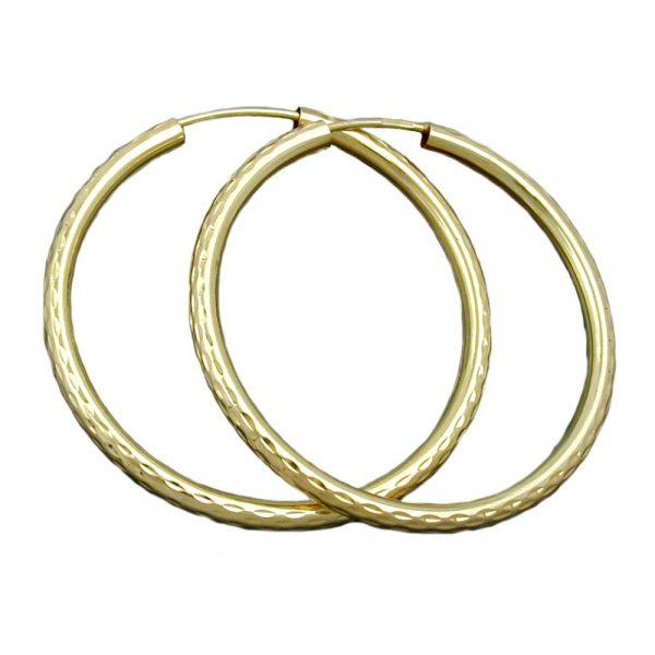 Boucles oreilles creoles diamantees en argent 925 Krossin bijoux en argent 93387xx