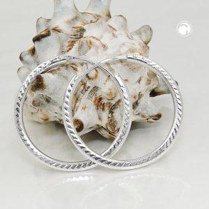 Boucles oreilles creoles mince ligne argent 925 Krossin bijoux en argent 93566x