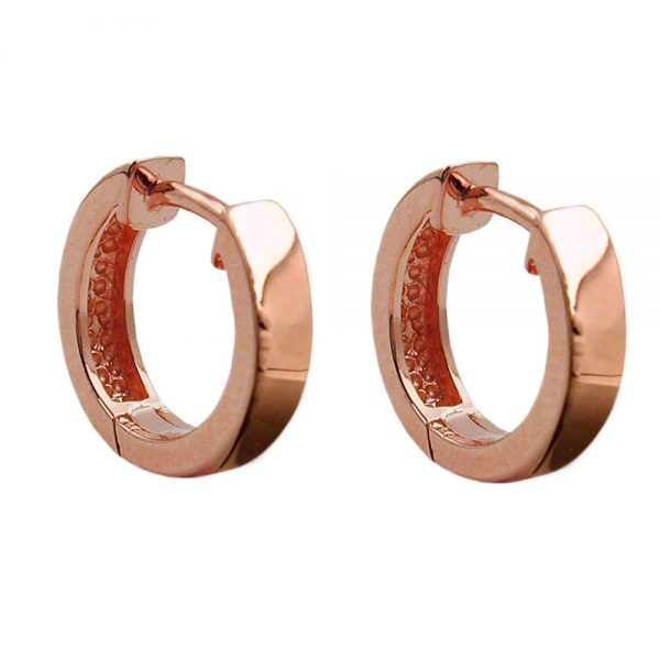 Boucles oreilles creoles rouge or argent 925 Krossin bijoux en argent 93457xx