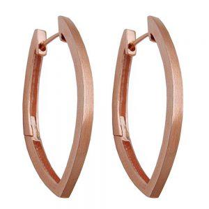 Boucles oreilles creoles rouge or argent 925 Krossin bijoux en argent 93458xx