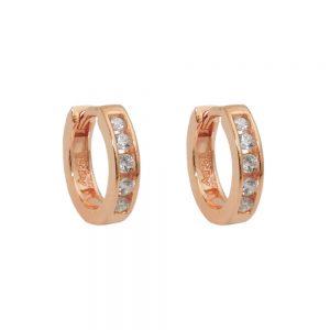 Boucles oreilles creoles rouge or argent 925 Krossin bijoux en argent 93683xx