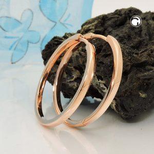 Boucles oreilles creoles rouge or argent 925 Krossin bijoux en argent 93684x