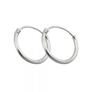 Boucles oreilles creoles uni mince argent 925 Krossin bijoux en argent 90022xx