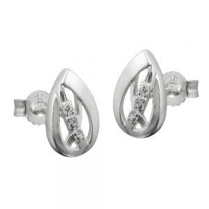 Boucles oreilles en Zircon argent 925 Krossin bijoux en argent 91388xx