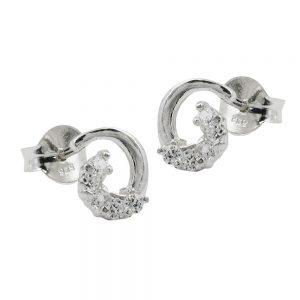 Boucles oreilles en Zircon argent 925 Krossin bijoux en argent 91453xx